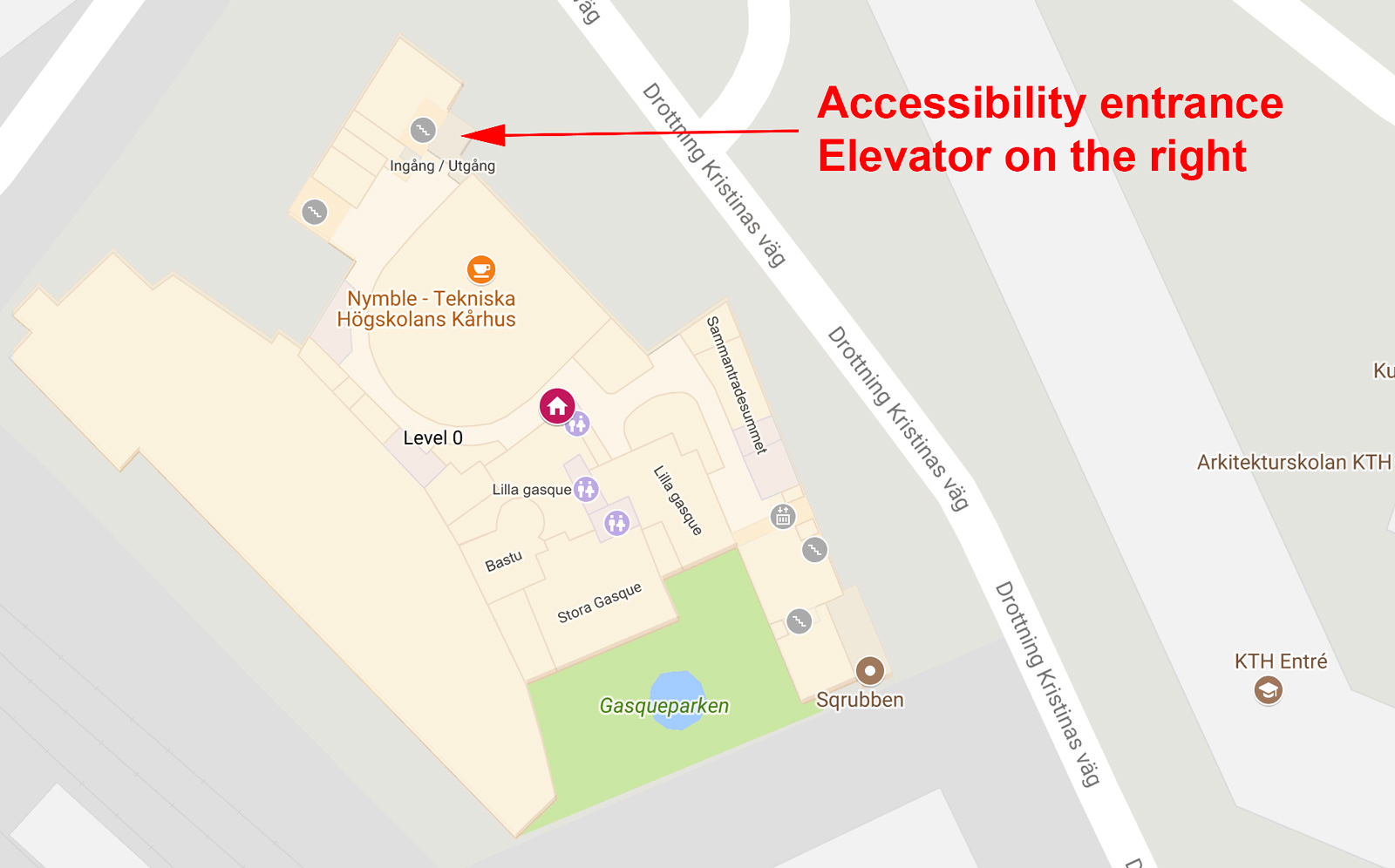 Nymble accessibility entrance